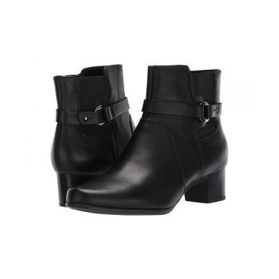 Clarks クラークス レディース 女性用 シューズ 靴 ブーツ アンクルブーツ ショート Un Damson Mid - Black Leather