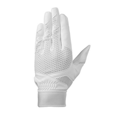 Mizuno ミズノ グローバルエリート 守備手袋 [左手用] 野球手袋 グローブ 2018年秋冬 高校野球ルール対応 ホワイト 1EJED220