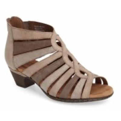 ロックポート ROCKPORT COBB HILL レディース サンダル・ミュール シューズ・靴 Abbott Caged Sandal Light Khaki Multi Leather