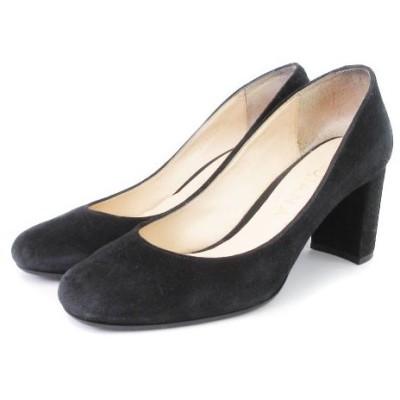 【中古】ダイアナ DIANA パンプス チャンキーヒール 黒 ブラック 23 シューズ 靴 レディース 【ベクトル 古着】