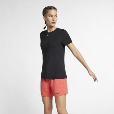 ナイキ Nike レディース フィットネス・トレーニング Tシャツ トップス Pro Compression S/S T-SHirt Black