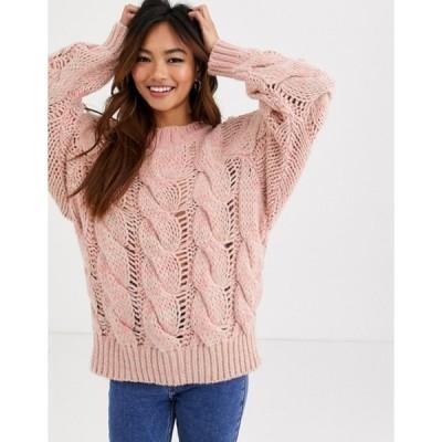 エイソス レディース ニット・セーター アウター ASOS DESIGN lofty knit cable sweater