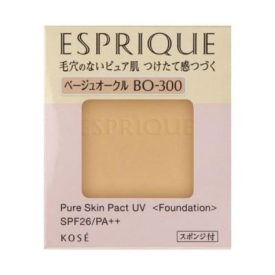 【ポイント10% 10月17日】エスプリーク ピュアスキン パクト UV(BO-300 ベージュオークル) ファンデーション ESPRIQUE