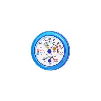 CRECER/クレセル  TR-103B 壁掛け・卓上両用スタンド付き温湿度計(ブルー)