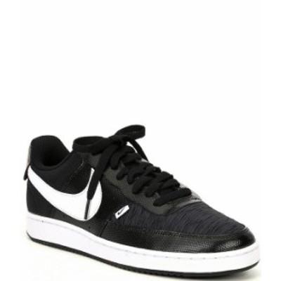 ナイキ メンズ スニーカー シューズ Men's Court Vision Lo PRM Lifestyle Shoes Black/White