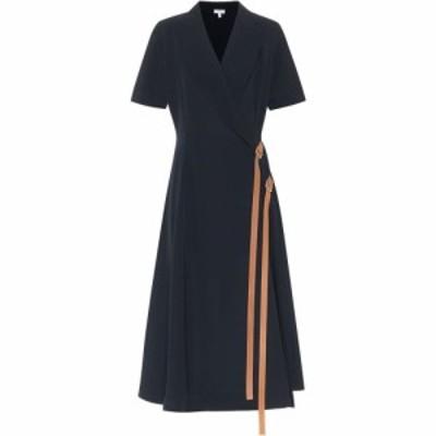 ロエベ Loewe レディース ワンピース ラップドレス ワンピース・ドレス crepe wrap dress Deep Sea Blue