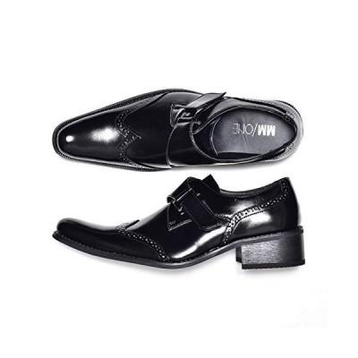 エムエムワン ビジネスシューズ メンズ MPT170シリーズ レースアップシューズ モンクストラップ ベルクロ 紳士靴 結婚式 フォーマル