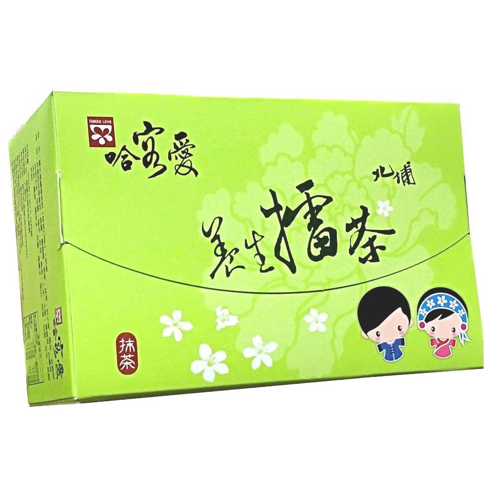 【啡茶不可】哈客愛抹茶擂茶(38gx16入/盒)北埔養生擂茶