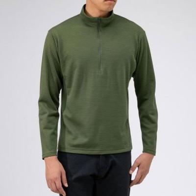 ブレスサーモミニボーダージップネックシャツ メンズ MIZUNO ミズノ アウトドア トラベル シャツ (B2MA9569)