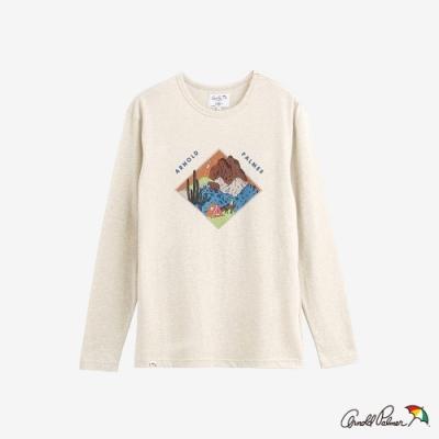 Arnold Palmer -男裝-主題風景荒野印花T恤-白色