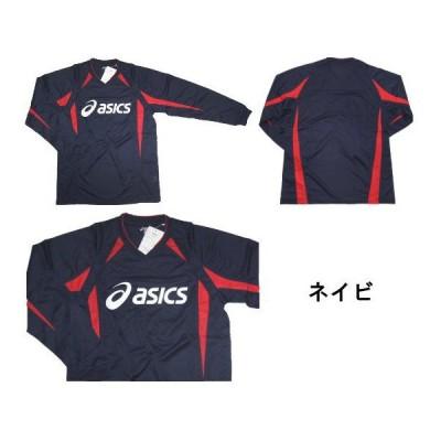 【ゆうパケット対応】アシックス:サッカー長袖プラクティスシャツ 50ネイビ