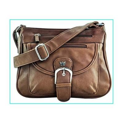 【新品】Purse King Pistol Concealed Carry Handbag (Dark Brown)(並行輸入品)