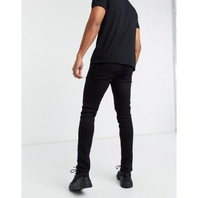 エイソス メンズ デニムパンツ ボトムス ASOS DESIGN skinny jeans in black BLACK