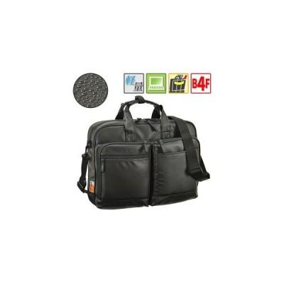 ビジネスバッグ メンズ ブリーフケース B4ファイル  トラベルバッグ  ショルダー付き 2way 軽量 撥水 PVCコート  黒 #26641 MAGNUM★