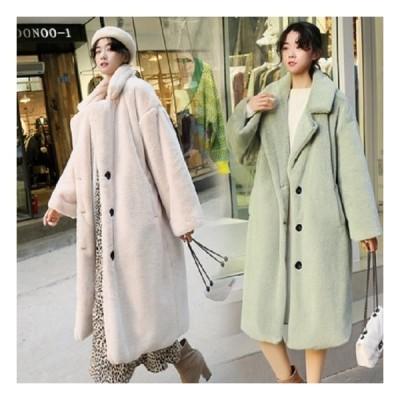 レディース アウター ロングコート コート 30代 40代 もこもこ カジュアル きれいめ カジュアル ロング 大きいサイズ 冬 暖かい 通勤 白 黒