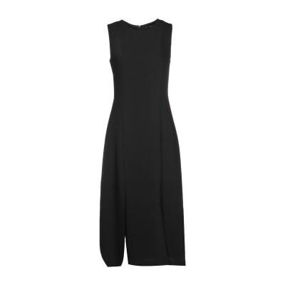 SEVENTY SERGIO TEGON 7分丈ワンピース・ドレス ブラック 40 ポリエステル 100% 7分丈ワンピース・ドレス