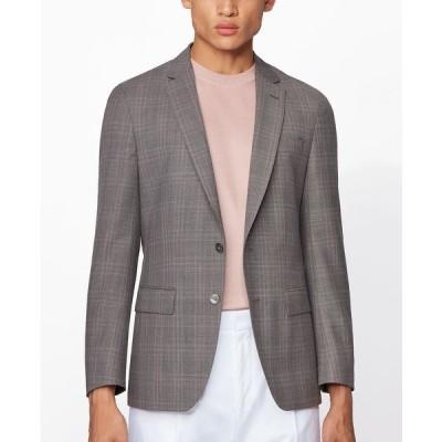 ヒューゴボス ジャケット&ブルゾン アウター メンズ BOSS Men's Hartlay2 Slim-Fit Jacket Medium Grey