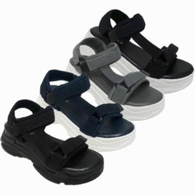 サンダル レディースシューズ レディースファッション 靴 夏 サイドベルト 厚底 スポーツサンダル プラットフォーム ゆったりとした