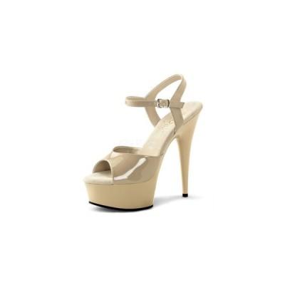 """プリーザー pleaser サンダル DELIGHT-609 6"""" Heel del609-cr-m  ハイヒール レディース シューズ 靴 お取り寄せ商品"""