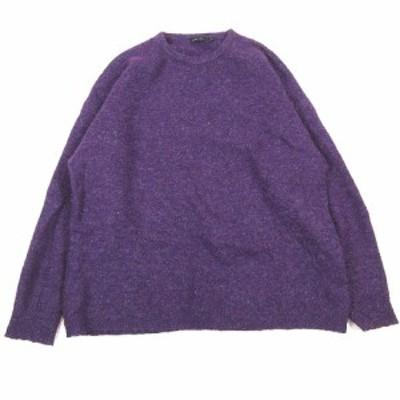 【中古】ニコアンド Niko and.. オーバーサイズ セーター もこもこ プルオーバー ニット カットソー L 紫▼12