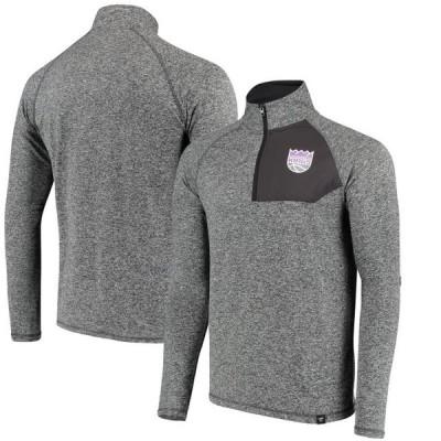 ユニセックス スポーツリーグ バスケットボール Sacramento Kings Fanatics Branded Static Quarter-Zip Pullover Jacket - Heathered Ch