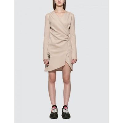 オフホワイト Off-White レディース ワンピース ミニ丈 ワンピース・ドレス Quote Mini Dress Beige
