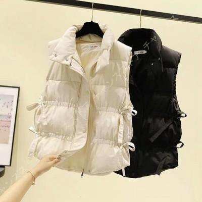 ベスト レディース 保温 冬 ダウン チョッキ 女性用 袖なし ダウンベスト アウター 冬物 防寒 防風 保温 あったたか 体型カバー シンプル おしゃれ 可愛い