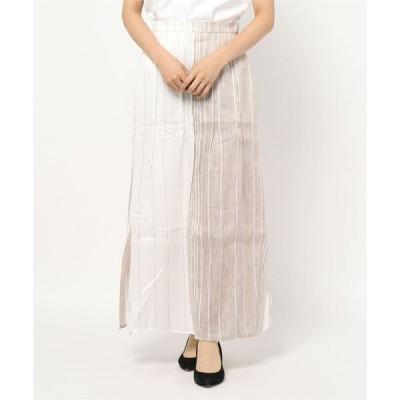 スカート (5KNOT)マルチストライプ柄スカート