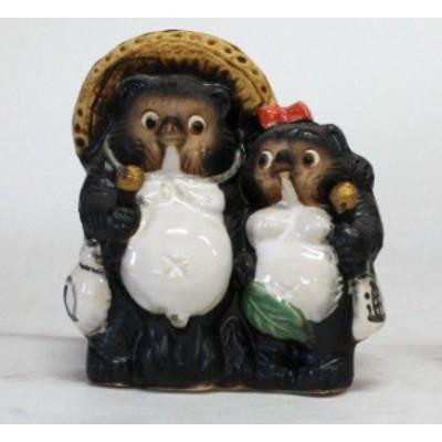 アベックカラオケ狸4号 信楽焼 たぬき 陶器 狸 置物 タヌキ 彩り屋