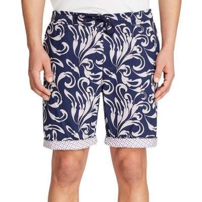 """タリア カジュアルパンツ ボトムス メンズ Men's Slim-Fit Gingham Drawstring 9"""" Shorts Navy/red"""