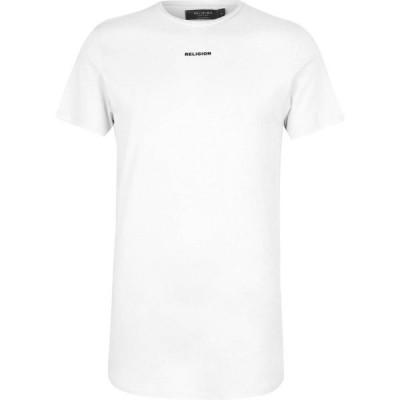 レリジョン Religion メンズ Tシャツ トップス Clue T Shirt Broken White