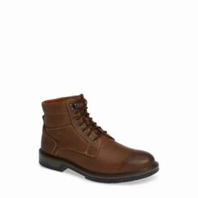 ジョンストン&マーフィー ブーツ Rutledge Genuine Shearling Lined Waterproof Boot Brown Oiled Leather