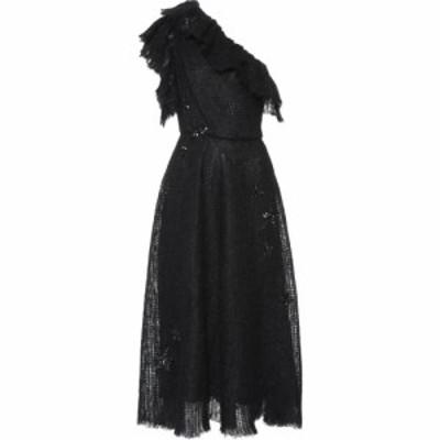ヴァレンティノ Valentino レディース ワンピース ミドル丈 ワンピース・ドレス embellished mohair-blend midi dress Black
