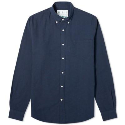 バブアー Barbour メンズ シャツ トップス Dunbar Shirt - White Label Navy