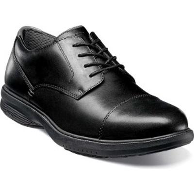 ノンブッシュ メンズ ドレスシューズ シューズ Melvin St. Cap Toe Derby Shoe Black Leather