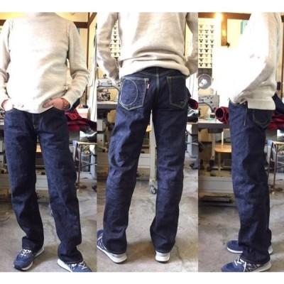 1stジーンズ ハンドメイド ストレート デニム メンズ 大きいサイズ ロング 熊本発 手作り チャーリー オリジナル ボタンフライ 15oz