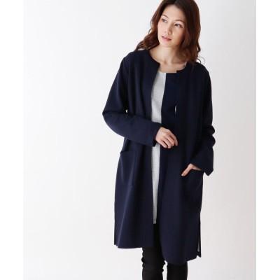 SHOO・LA・RUE/Mrs.(シューラルー/ミセス) 【M-LL】ノーカラーダブルフェイスジャケット