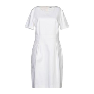 CAPPELLINI by PESERICO ミニワンピース&ドレス ホワイト 42 コットン 97% / ポリウレタン 3% ミニワンピース&ドレス