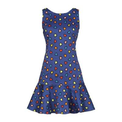 ラブ モスキーノ LOVE MOSCHINO ミニワンピース&ドレス ブルー 44 95% コットン 5% ポリウレタン ミニワンピース&ドレス