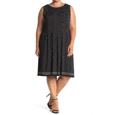 マックスタジオ レディース ワンピース トップス Sleeveless Pleated Jersey Dress BKIVSPSP