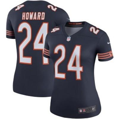 ナイキ レディース Tシャツ トップス Jordan Howard Chicago Bears Nike Women's Color Rush Legend Player Jersey Navy
