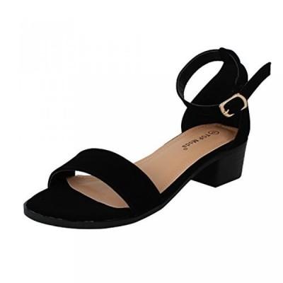 トップモーダ レディース パンプス Top Moda Women's Ankle Strap Open Toe Heeled Sandal