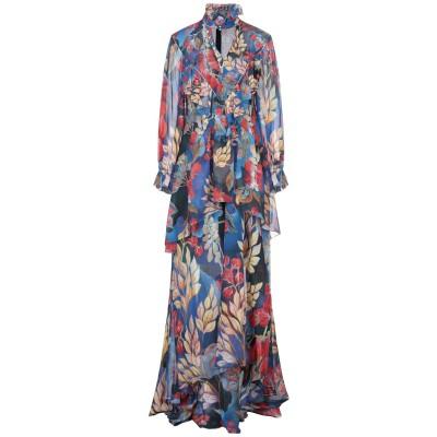 ピーター・ピロット PETER PILOTTO ロングワンピース&ドレス ブルー 8 シルク 100% ロングワンピース&ドレス