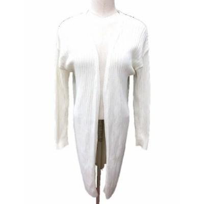 【中古】ステュディオス STUDIOUS カーディガン ニット 前開き ロング 長袖 0 白 ホワイト /YK レディース