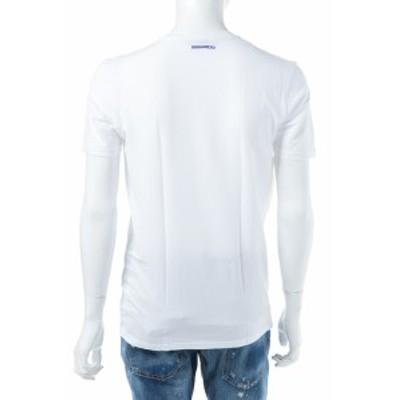 ディースクエアード DSQUARED2 Tシャツアンダーウェア ホワイト×ブルー メンズ (D9M450590)