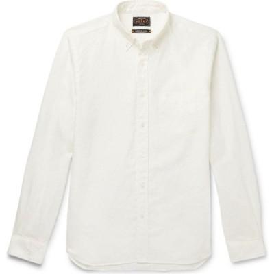 ビームス BEAMS メンズ シャツ トップス linen shirt White