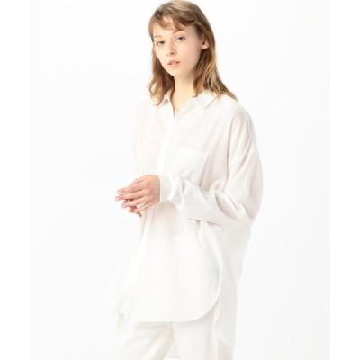 【GALERIE VIE】コットンピースダイビエラ オーバーサイズドシャツ