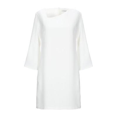 BIANCOGHIACCIO ミニワンピース&ドレス ホワイト 44 ポリエステル 96% / ポリウレタン 4% ミニワンピース&ドレス