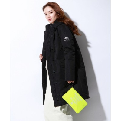 【エコアルフ】 GLACIER ロングコート / GLACIER BECAUSE LONG COAT WOMAN レディース 黒 XS ECOALF