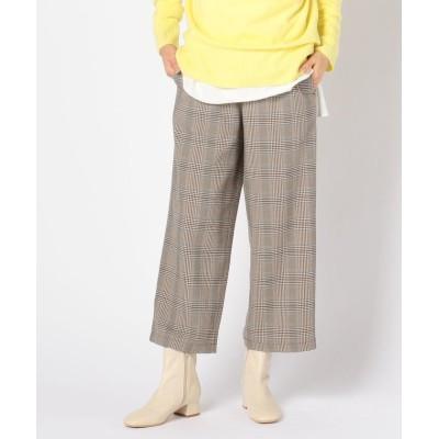 【フレディアンドグロスター】 ポケット釦セミワイドパンツ レディース ブラウンベージュ系1 34 FREDY&GLOSTER